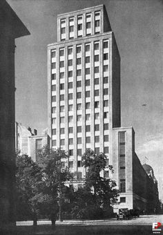 In memoriam - Pamięci Architektów Polskich High Building, Multi Story Building, Beautiful Buildings, Warsaw, Skyscraper, Europe, Black And White, City, Napoleon
