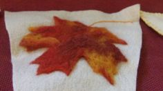 Autumn Bunting - Needlefelted Leaves