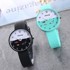JOYROX Children Watch For Girls Color Silicone Strap Fashion Quartz Wristwatch Fish Dial Cartoon Kids Clock Relogio Feminino Simple Cheap Watches Outfit Accessories From Touchy Style Simple Watches, Cute Watches, Cheap Watches, Stylish Watches, Vintage Watches, Luxury Watches, Clock For Kids, Minimalist Shoes, Rose Gold Watches