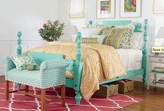 LOVE this aqua...from Ethan Allen