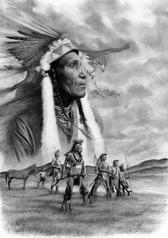 J E Knauf native indian art Native American Tattoos, Native American Wisdom, Native American Pictures, Native American Artwork, American Spirit, American Indian Art, Native American History, American Indians, American Symbols