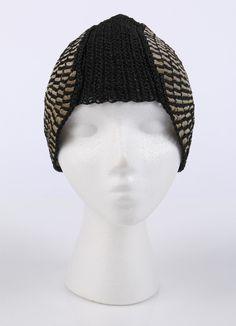 1920s Black Ribbon Spiral Juliet Skull Cap Cloche Flapper Hat.
