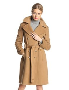 Anne Klein Women's Double Breasted #Cashmere #Wool Coat