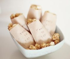 Hot Air Balloon Theme Baby Shower Snack ~ 'Ready to Pop' Caramel Corn