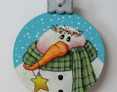 Trineo de la Navidad Ornamento colgante del por barbsheartstrokes