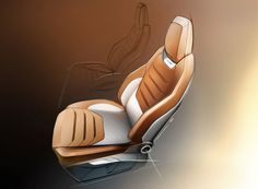 SEAT 20V20 Concept - Interior Design Sketch - Seat - Car Body Design