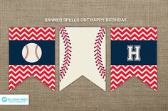 Baseball Birthday Banner - Baseball Printable - Baseball Birthday - Sports…