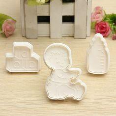 designed little boy, toy and milk bottle shape cake cookie cutter set is very suitable for making children cakes cookies etc. Cake Decorating Supplies, Cookie Cutter Set, Cake Mold, Fondant, Shower Ideas, Milk, Baby Shower, Cookies, Bottle
