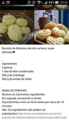 Biscoitos Best Gluten Free Desserts, Delicious Desserts, Tumblr Food, Portuguese Recipes, Pastry Cake, Four, Food Hacks, Sweet Recipes, Cookie Recipes