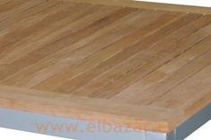 Mesa Teca, estructura aluminio. Mediterranea | Comprar ahora | ELBAZAR.ES