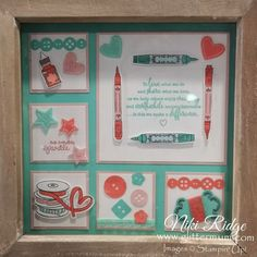 It Starts with Art Bundle from Stampin' Up! Bed Spring Crafts, Diy And Crafts, Paper Crafts, New Catalogue, Shadow Box Frames, Creative Cards, Craft Fairs, Stampin Up Cards, Teacher Gifts