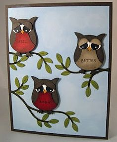 Tree owls luv this cute idea:  Website has lots of cute ideas that can be made with the SU Owl Punch!