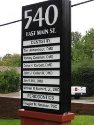Image result for craftsman multi tenant monument sign