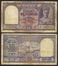 5 Bizarre Burmese Banknotes  of Unusual Denomination  Album,Story /& Certificate