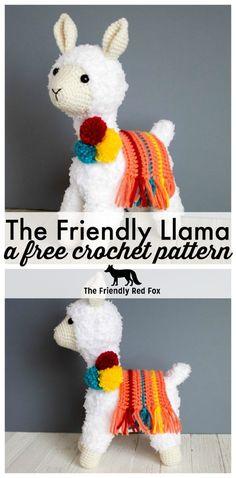 Crochet Llama Pattern - thefriendlyredfox.com