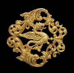 Victorian 14k Gold Dragon Brooch