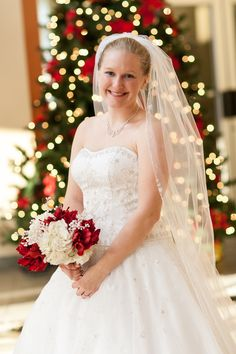 We love Christmas weddings and this bridal portrait is just darling!