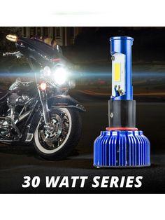 XK Glow 30 Watt Motorcycle H4 High/Low Beam LED Headlight Error-free Conversion Kit w/ Tinted Sleeves