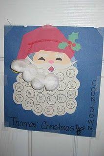 Kids crafty Christmas advent