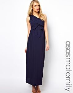 Image 1 of ASOS Maternity Exclusive Maxi Dress With One Shoulder - Alicia, do you like?