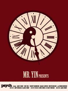 Psych - Mr Yin Presents minimalist print. €6,00, via Etsy.
