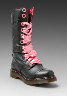 It's June, I should be checking out sandals and flip flops, but it's still cold and pouring down. Dr. Martens Triumph 14-Eye Boot in Black