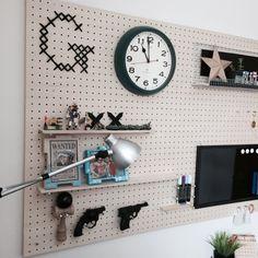 kurunさんの、ブラックボード,ペグボード,有効ボード,子供部屋,壁/天井,のお部屋写真