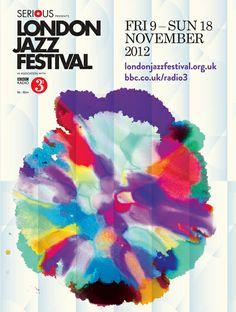 London Jazz Festival 2012 Art Art director Poster Artwork Visual Graphic Mixer Composition Communication Typographic Work Digital