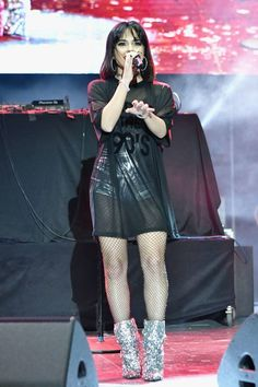 Becky G performs at AHF World AIDS Day Concert in Miami