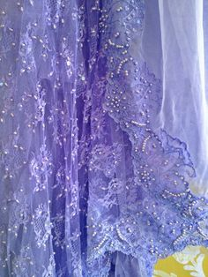 periwinkle beaded lace & chiffon appliqued by mermaidmisskristin
