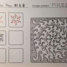Fires~Zentangle