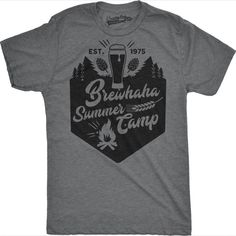 a33cc8a92 Brewhaha Summer Camp Funny T-shirts for Cool Camping Trips #MensT-shirts  Camping