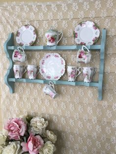 Shabby Chic Display Rack, Curio Shelf,