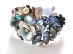 Something Blue Floral Wedding Ring