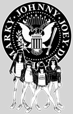 Ramones it´s awesome! Rock Posters, Band Posters, Concert Posters, Punk Rock, Ramones Logo, Historia Do Rock, Hey Ho Lets Go, Beatles, Joey Ramone