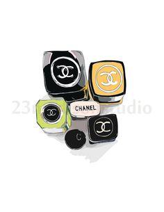 Chanel cosmetic combo illustration