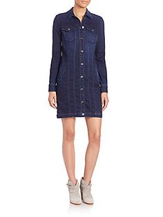 7 For All Mankind Denim Shirtdress