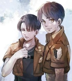 Attack on Titan OMG Eren looks so happy. You can just see how much he looks up to Levi