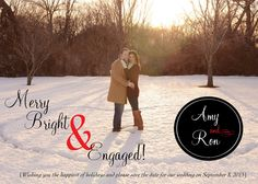 Use your engagement picture for an inexpensive FAST EAST holiday card.  This doubles as a SAVE THE DATE Christmas Cards Holiday Cards Printable PHOTO by CharmingPaperShop, $15.00