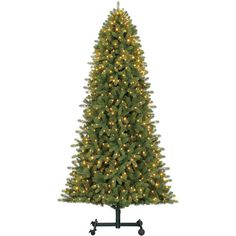 D27 9-ft Pre-Lit Emerson Grow & Stow Christmas Tree