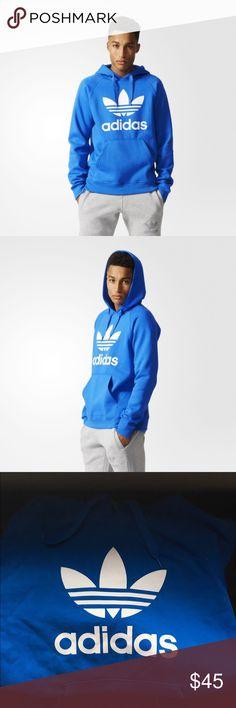 Adidas Trefoil Hoodie-Bluebird color Adidas Trefoil Hoodie-Bluebird color! Mens Size Large! Adidas Shirts Sweatshirts & Hoodies