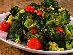 Roasted Broccoli with Cherry Tomatoes recipe from Patrick and Gina Neely via Food Network