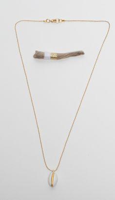 Handmade necklace white BIJJOSSE