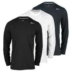 Perfect for this weather we're having! NIKE Men`s Legend Polyester Long Sleeve Tennis Top
