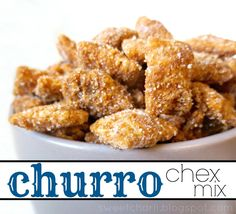 Churro Chex Mix The cinnamon chips were difficult to get to the right consistency. Added some milk and then they were ready to pour. Turned out delicious!