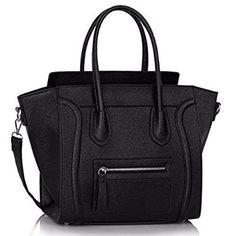 Women's Ladies Designer Leather Style Celebrity Tote Bag Smile Shoulder Handbag: Handbags: Amazon.com