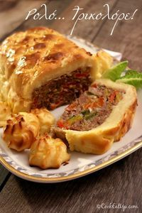 Low Sodium Recipes, Meat Recipes, Cooking Recipes, The Kitchen Food Network, Minced Meat Recipe, Good Food, Yummy Food, Greek Cooking, Greek Recipes