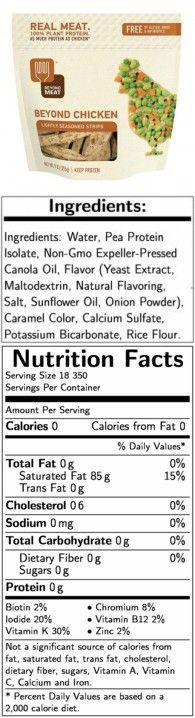 Beyond Meat Lightly Seasoned Chicken Free Strips, 9 Ounce -- 6 per case.