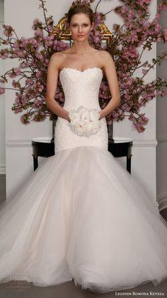 legends romona keveza bridal spring 2017 strapless sweetheart crystal lace mermaid wedding dress (l315) mv blush color