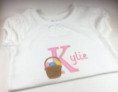 Personalized Monogrammed Easter Basket Shirt -- Customized on Etsy!